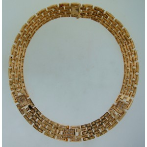 Cartier Rhodes Diamond Yellow Gold Necklace