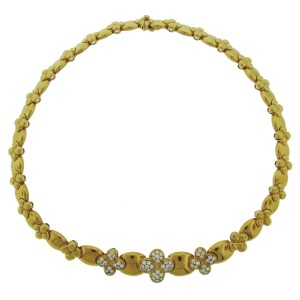 Van Cleef & Arpels Yellow Gold Clover Diamond Necklace