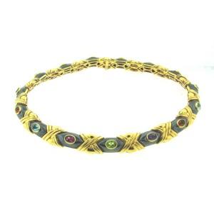 Vacheron & Constantin 18K 750 Gold Hematite Amethyst Topaz Peridot Necklace