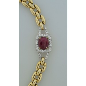 David Webb Ruby Diamond Yellow Gold Necklace Bracelet