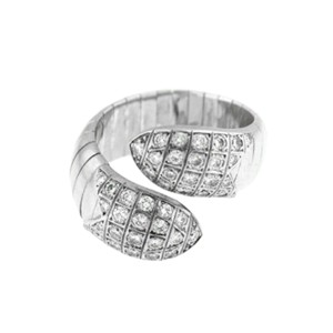 Chaumet 18k White Gold Flexible Diamonds Ring