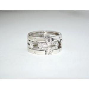 Bulgari Parentesi 18k White Gold With Diamonds Ring