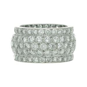 Cartier Nigeria Diamond 18k White Gold Wide Dome Band