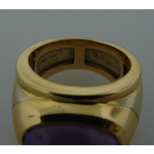 Marina B. 18k Yellow Gold/White Gold & Amethyst Ring