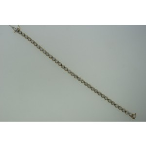 14K Yellow Gold 5.50 Ct Diamond Tennis Straight Line Bracelet
