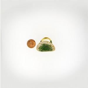 18K Yellow Gold Diamond Tsavorite Garnet Ring