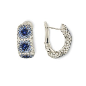 Palmiero 18K White Gold And Diamond Earrings
