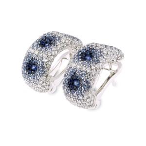 Palmiero 18K White Gold And Diamond Earrings