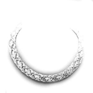 Bulgari Trika 18K Gold  Diamonds Necklace