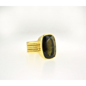 18K Yellow Gold With Stone Ring