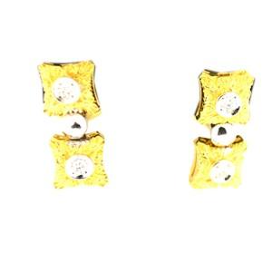 18K Yellow Gold 0.20 ct. Diamond Earring
