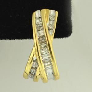14K Yellow Gold 0.46 Ct Diamond Earrings