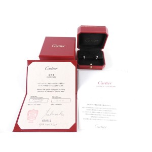 Auth CARTIER Mini Love Pierced Earring 18K 750 White Gold A-5550