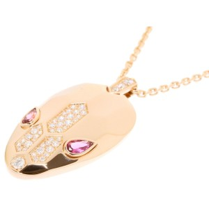Bulgari 18K Rose Gold with Diamond and Tourmaline Necklace