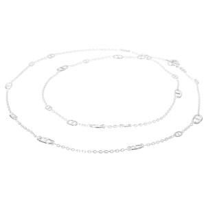Hermes 925 Sterling Silver Farandole Chaine d'Ancre Motif Necklace