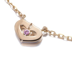 Cartier 18k Rose Gold with Sapphire Pendant Necklace