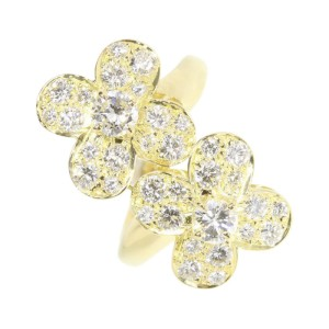 Van Cleef & Arpels 18K Yellow Gold with Diamond Ring Size 4