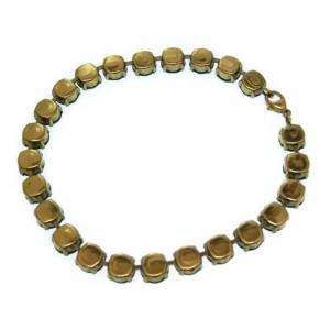 Chanel Gold Tone Hardware with Rhinestone Bangle Bracelet