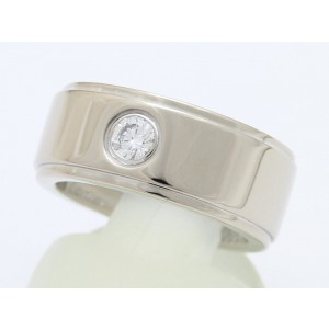 Cartier Fortune 750 White Gold with 1P Diamond Ring Size 5