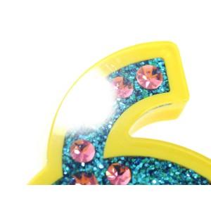 Chanel Resin with Rhinestone CC Logo Brooch