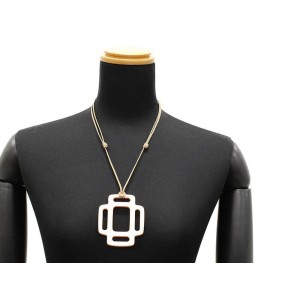Hermes Lacquered Wood Rhythme GM Necklace