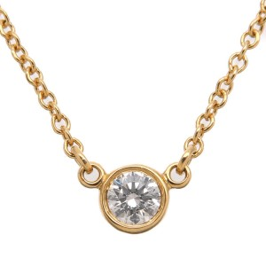 Tiffany & Co. By the Yard 18K Yellow Gold with 0.08ct Diamond Necklace