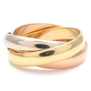 Cartier Trinity Ring 18K White, Rose and Yellow Gold Size 5.25