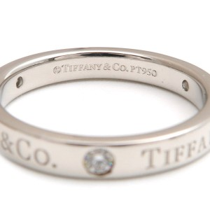 Tiffany & Co. PT950 Platinum with Diamond Ring Size 5.5