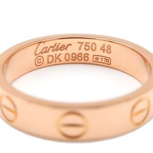 Cartier Mini Love Ring 18K Rose Gold Size 4.5