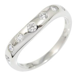 Bvlgari 7P Platinum Diamond Ring Size 4