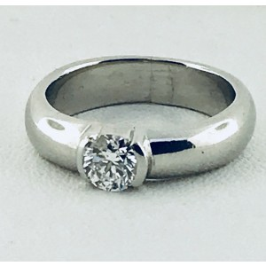 Tiffany & Co. Etoile Platinum Diamond Engagement Ring Size 6.5