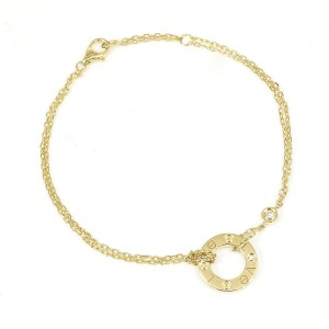 Cartier Love Circle Chain Bracelet 18K Yellow Gold with Diamond