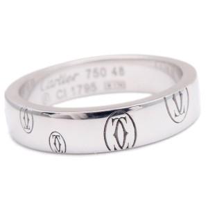 Cartier Happy Birthday 18K White Gold Ring Size 4.5