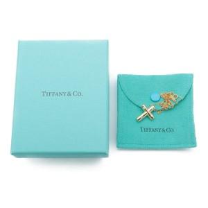 Tiffany & Co. Dots Cross Diamond 18K Yellow Gold Necklace