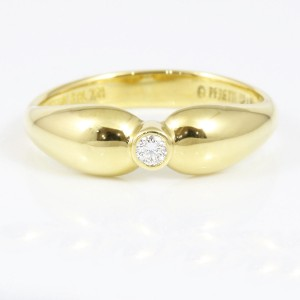 Tiffany & Co. 18K Yellow Gold Diamond Ring Size 6