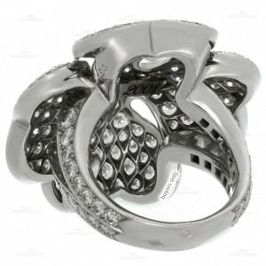 CARTIER Anniversary Edition 10 Carat Diamond 18k White Gold Clover Ring