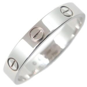 Authentic Cartier Mini Love Ring White Gold K18 750 #59 US9 HK20 EU59.5 Used F/S