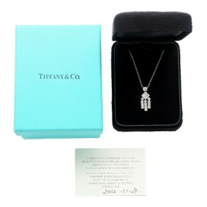 Authentic Tiffany&Co. Legacy Diamond Necklace K18 White Gold Used F/S