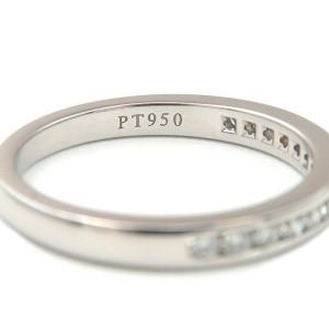 Auth Tiffany&Co. Half Circle Channel-set Diamond Ring PT950 US4.5 EU48 Used F/S