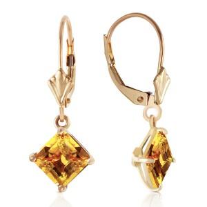3.2 CTW 14K Solid Gold Pallas Citrine Earrings