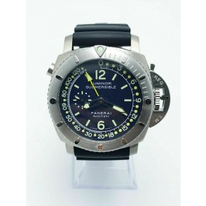 Panerai PAM307 Luminor Pangea Submersible Depth Gauge Titanium Box Service Paper