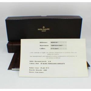 Patek Philippe Ladies Gondolo Ref 4824G 18K White Gold Box Papers