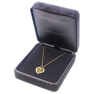Auth Tiffany&Co. Return To Tiffany Heart Tag Diamond Necklace K18YG Used F/S