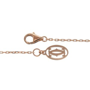 Auth Cartier Diamants Légers Necklace SM 1P Diamond 0.09ct K18PG Used F/S
