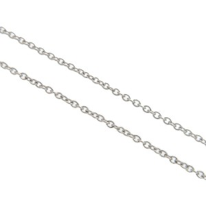 Auth Tiffany&Co. By the Yard 1P Diamond Necklace 0.12ct PT950 Platinum Used F/
