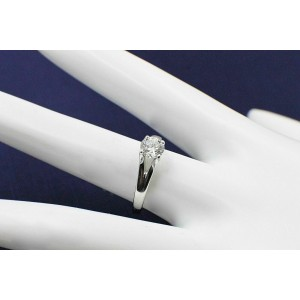 Hearts on Fire Diamond Engagement Ring Round 0.59 tcw GVS2 14k White Gold
