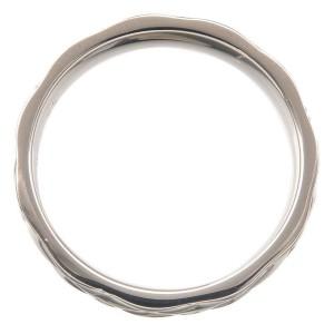 Auth CHANEL Matelasse Ring Medium Platinum PT950 #55 US7 HK15.5 EU55 Used F/S