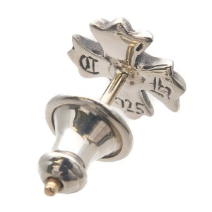 Authentic Chrome Hearts CH Plus Single Stud Earring Silver 925 Used F/S