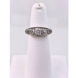 Antique 1.80 Carat Old Mine Cut Diamond Ring Platinum Lambert Bros.