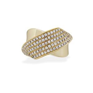Estate 18K Yellow Gold Diamond Ring